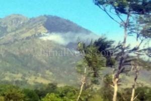 Titik kebakaran hutan di lereng gunung Ijen. (BPBD Banyuwangi)