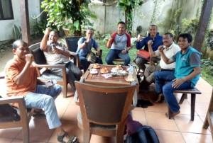 Suasana pemilihan pengurus SIWO yang dihadiri sejumlah pengurus PWI Banyuwangi. (Dok SIWO)