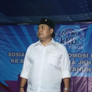 Andik Santoso saat di podium