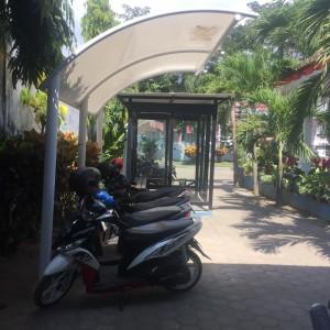 Foto: Lokasi tempat parkir di kecamatan Cluring.