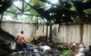 Diduga Disambar Petir Rumah Warga Di Sraten Hangus Terbakar