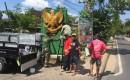 Rapel Bersama TNI Perbarui Warna Tugu Garuda Pancasila Yang Pernah Ditutup Banner Ayam Geprek