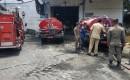 Gudang Limbah Pabrik Beras Terbakar, 3 Unit Mobil PMK Di Datangkan