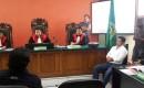 Persidangan Budi Pego Koordinator Demo Berlogo Palu Arit Pesanggaran.