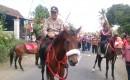 Gerak Jalan Di Desa Sambimulyo Dikawal Pasukan Berkuda