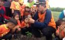 KKPH Banyuwangi Ajarkan Anak Usia Dini Tanam Pohon Jati