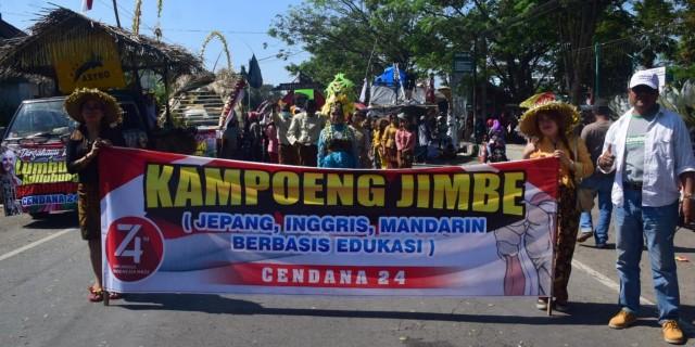 Kampung Jimbe Kembiritan Ikut Memeriahkan Pawai Budaya Kecamatan Genteng