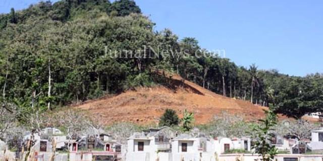 Kawasan Hijau Gunung Srawet Terancam Proyek Perluasan Makam Cina