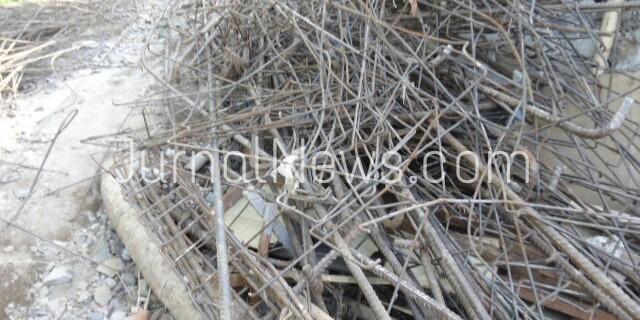 Proyek Jembatan Gepuro, Blimbingsari Gunakan Besi Bekas?